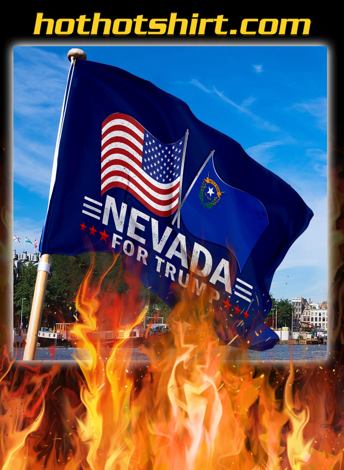 Nevada For Trump Flag- pic 3