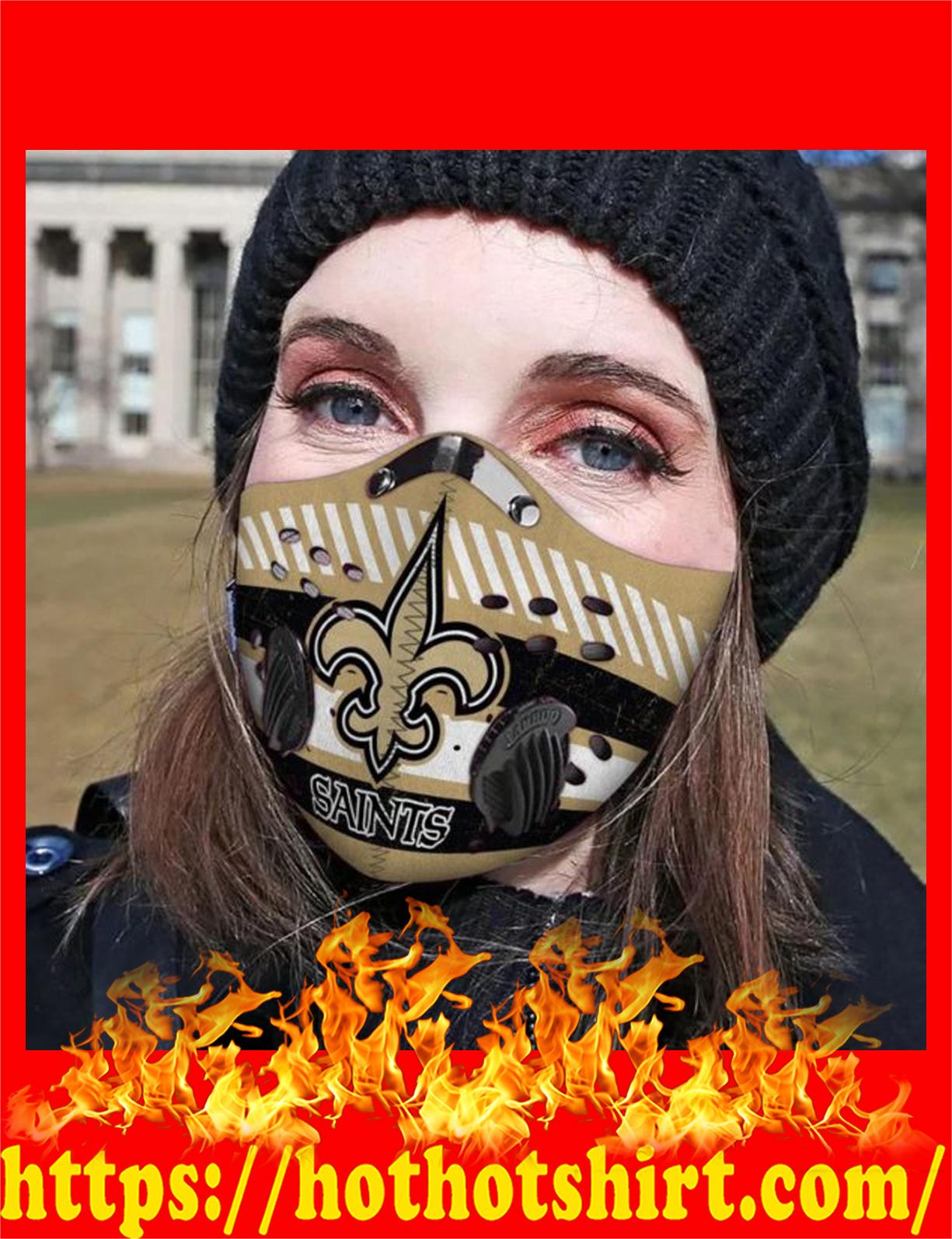 New orleans saints filter face mask- detail