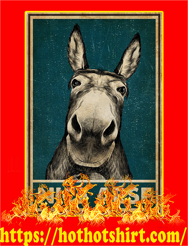 Nice arse donkey poster - A1