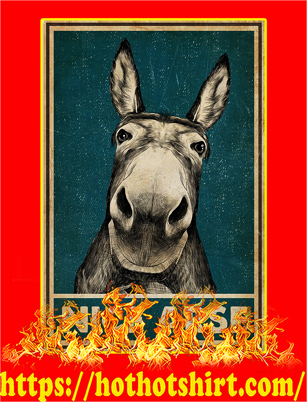 Nice arse donkey poster - A4