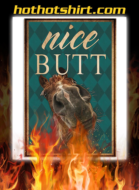 Nice butt horse poster A3
