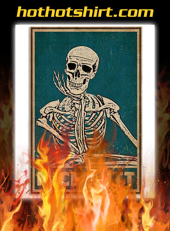 Nice butt skeleton retro poster 1