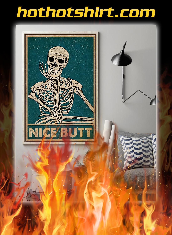 Nice butt skeleton retro poster 2