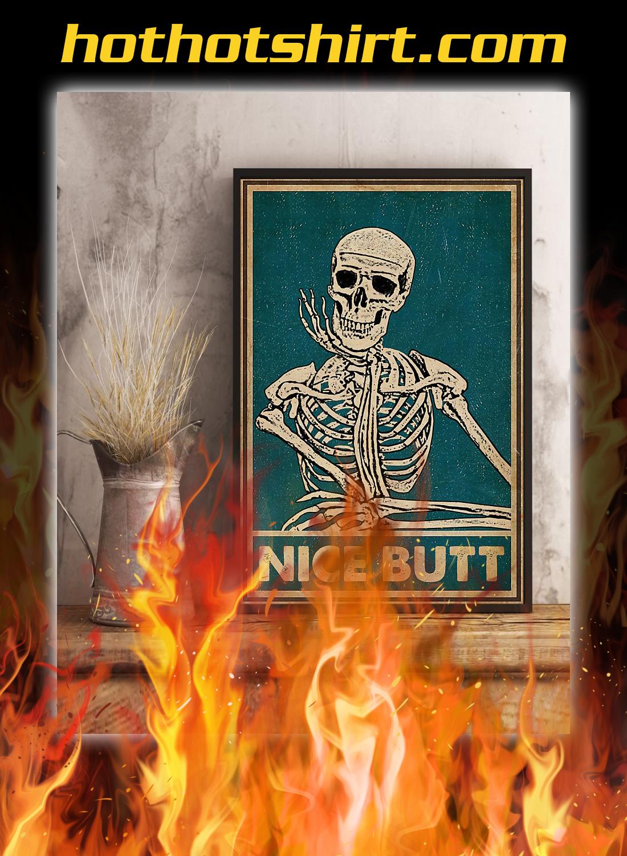 Nice butt skeleton retro poster 3