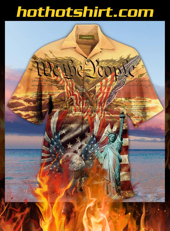 Patriotism american eagle unisex hawaiian shirt 1