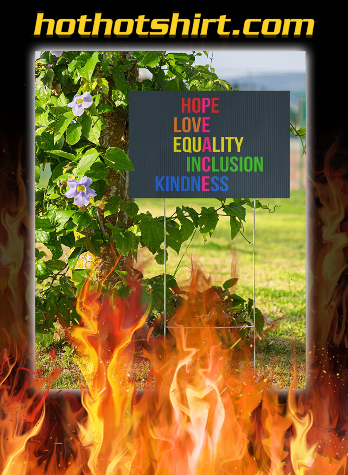 Peace hope love equality inclusion kindness yard signs- pic 1
