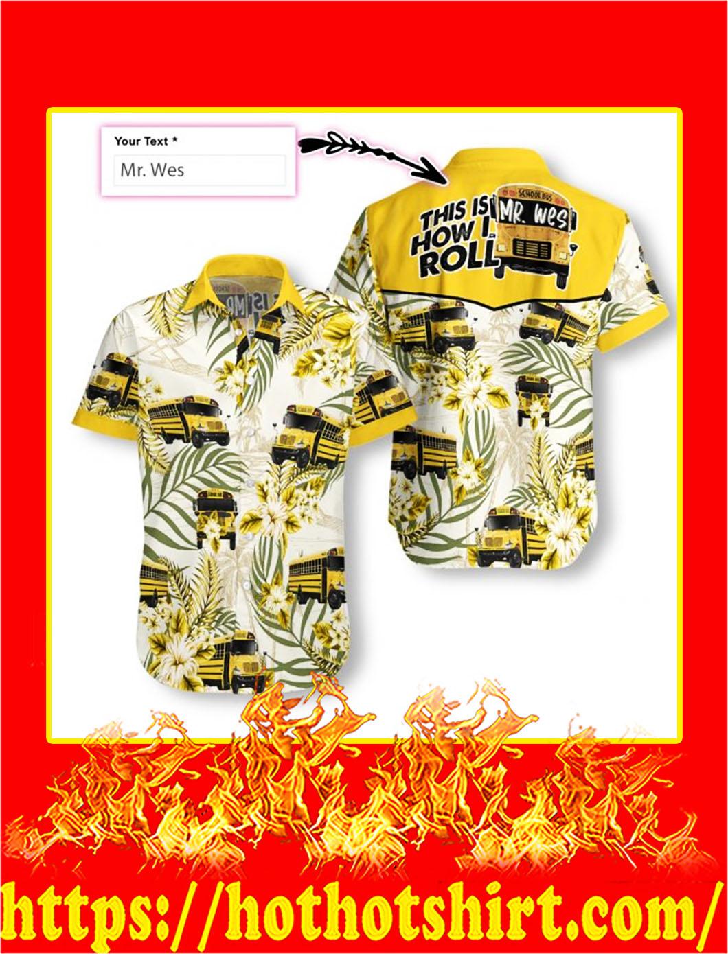 Personalized name school bus driver custom hawaiian shirt - S