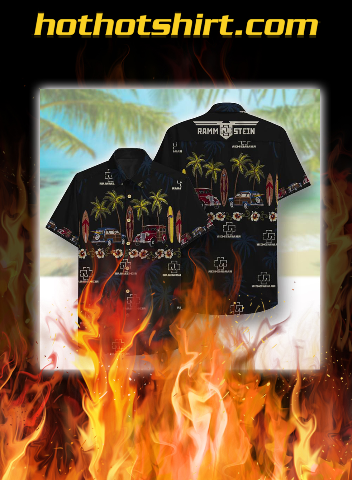 Rammstein Beach hawaiian shirt - S