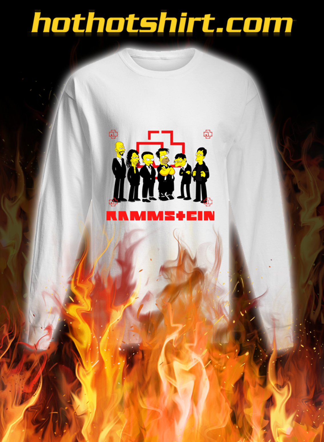 Rammstein the simpsons longsleeve tee