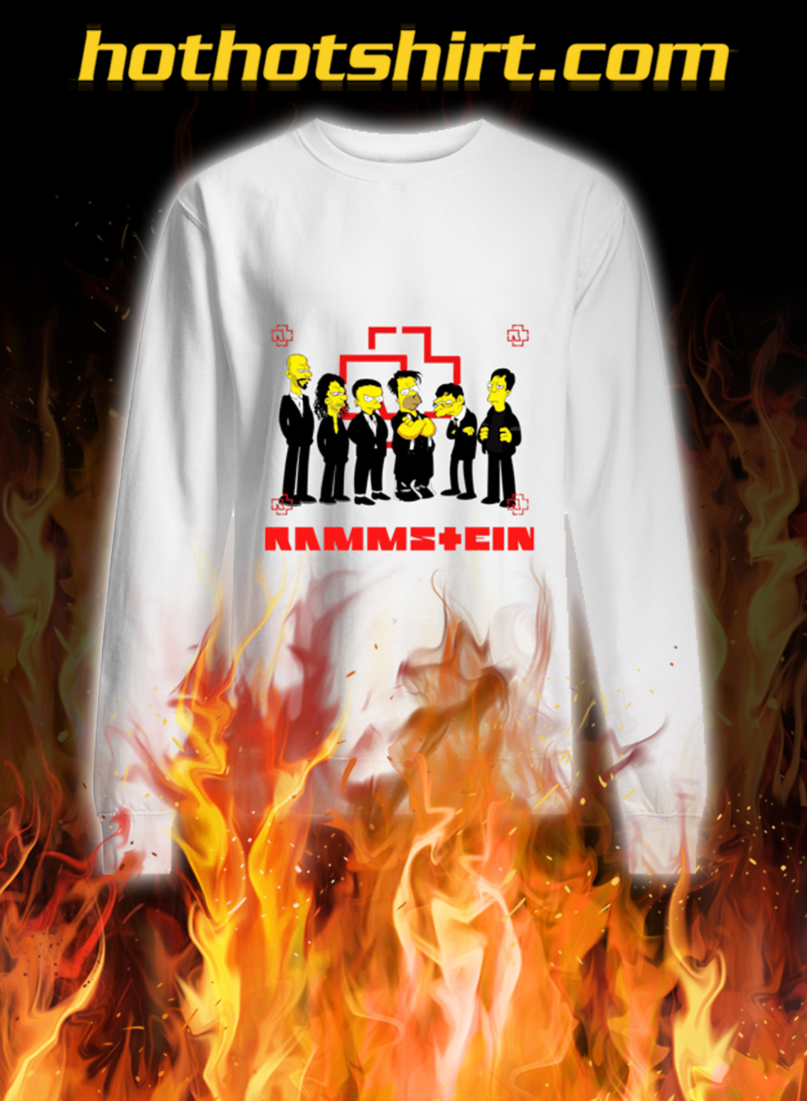 Rammstein the simpsons sweatshirt