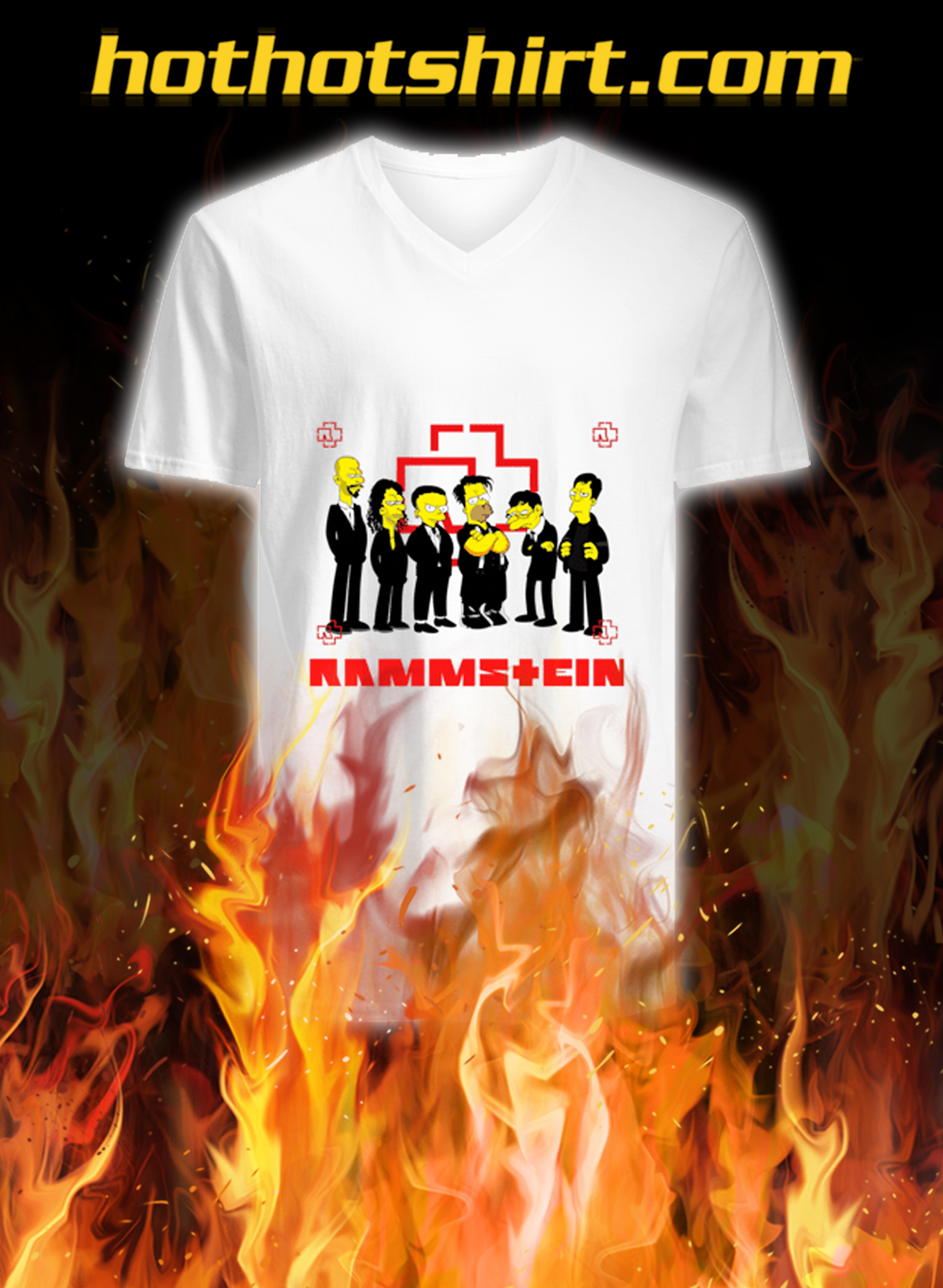Rammstein the simpsons v-neck