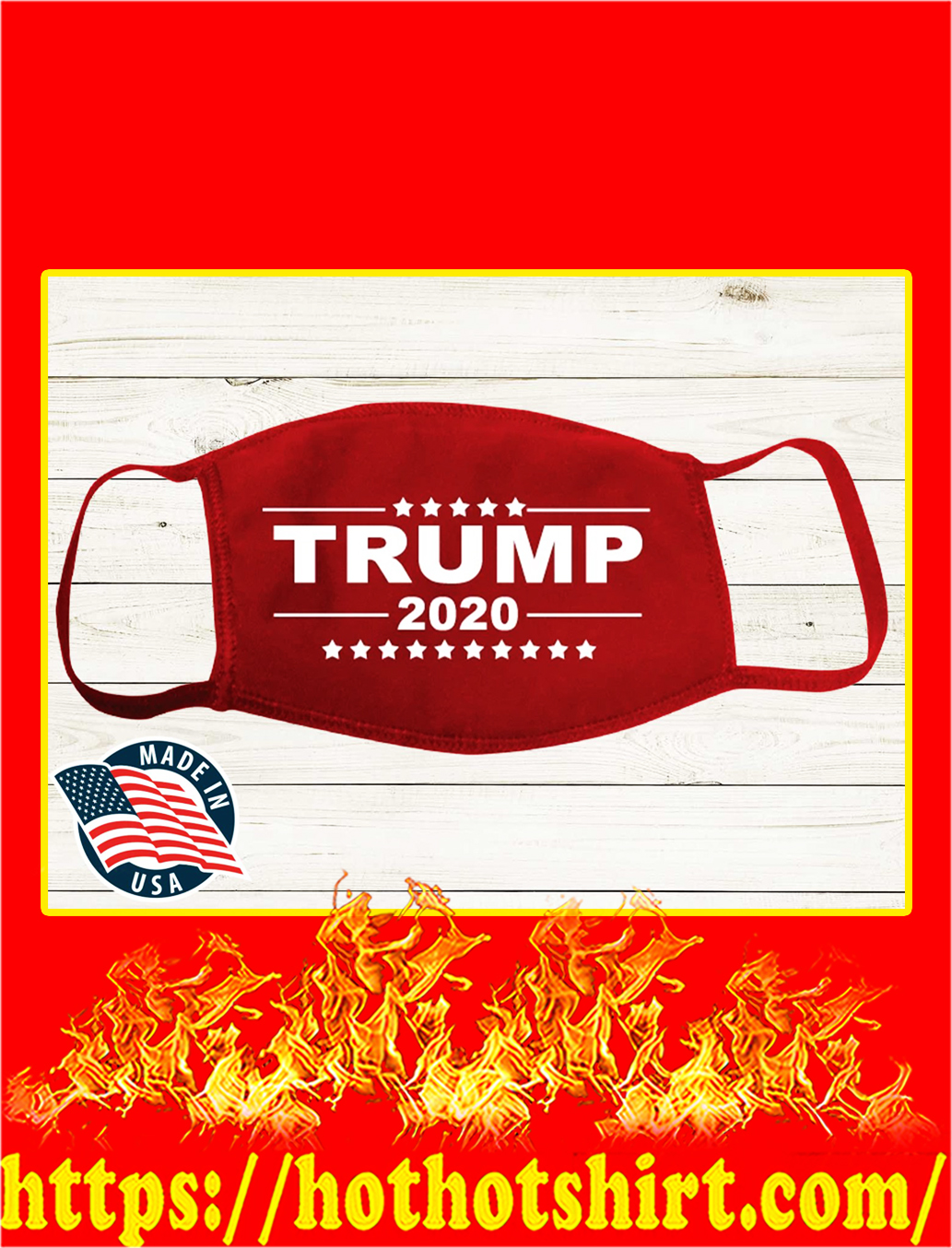 Red trump 2020 face mask- pic 1