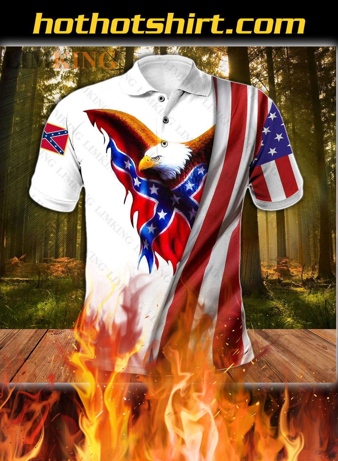 Redneck they reload eagle 3d polo shirt