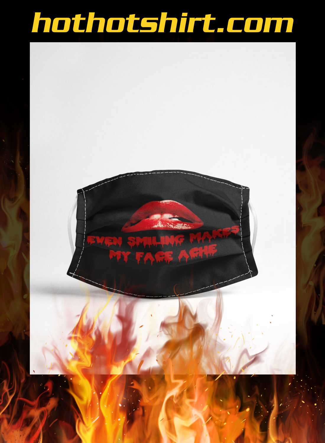 Rocky horror even smiling mask my face ache face mask 1