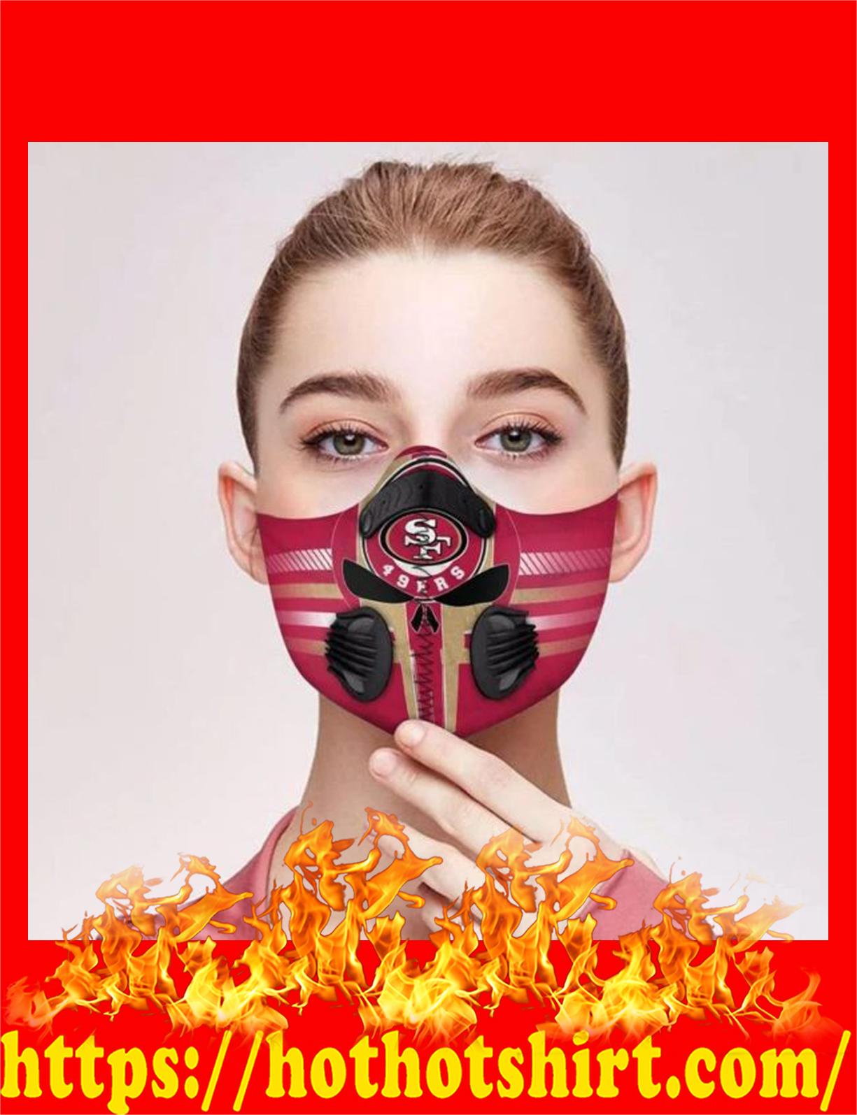 San francisco 49ers filter face mask