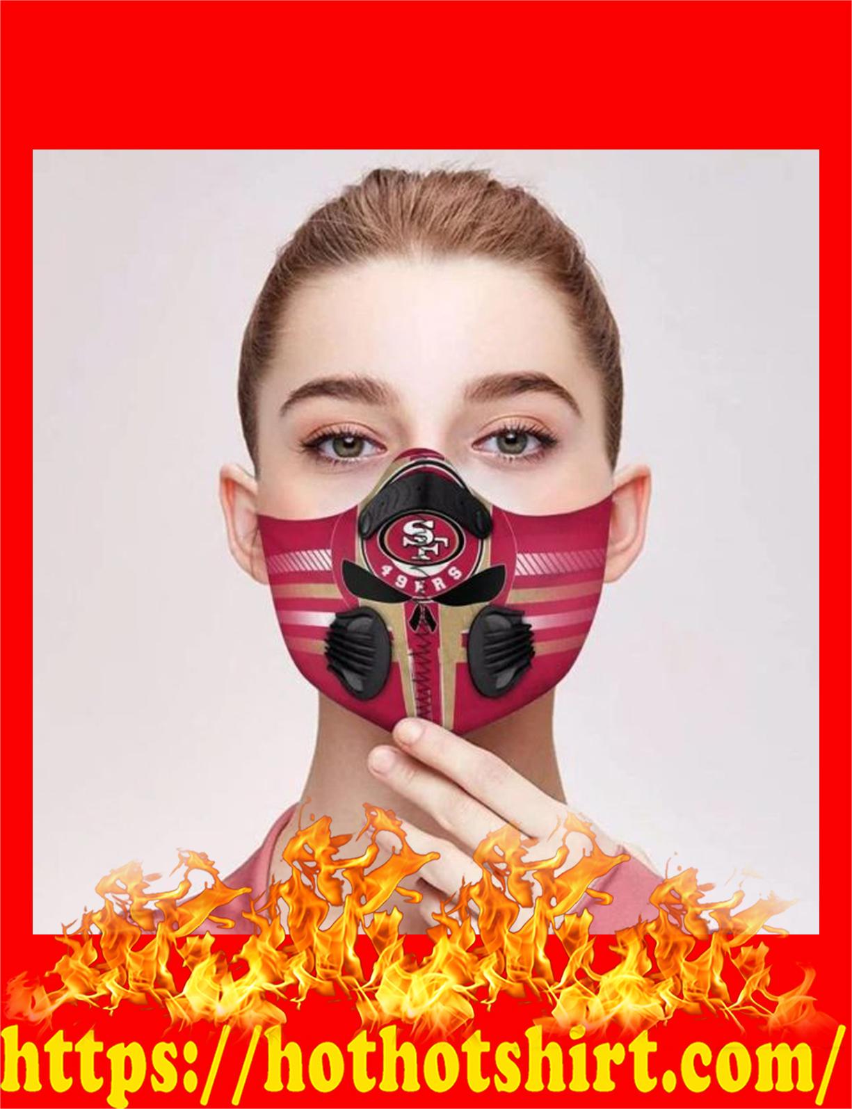 San francisco 49ers punisher skull filter face mask - detail