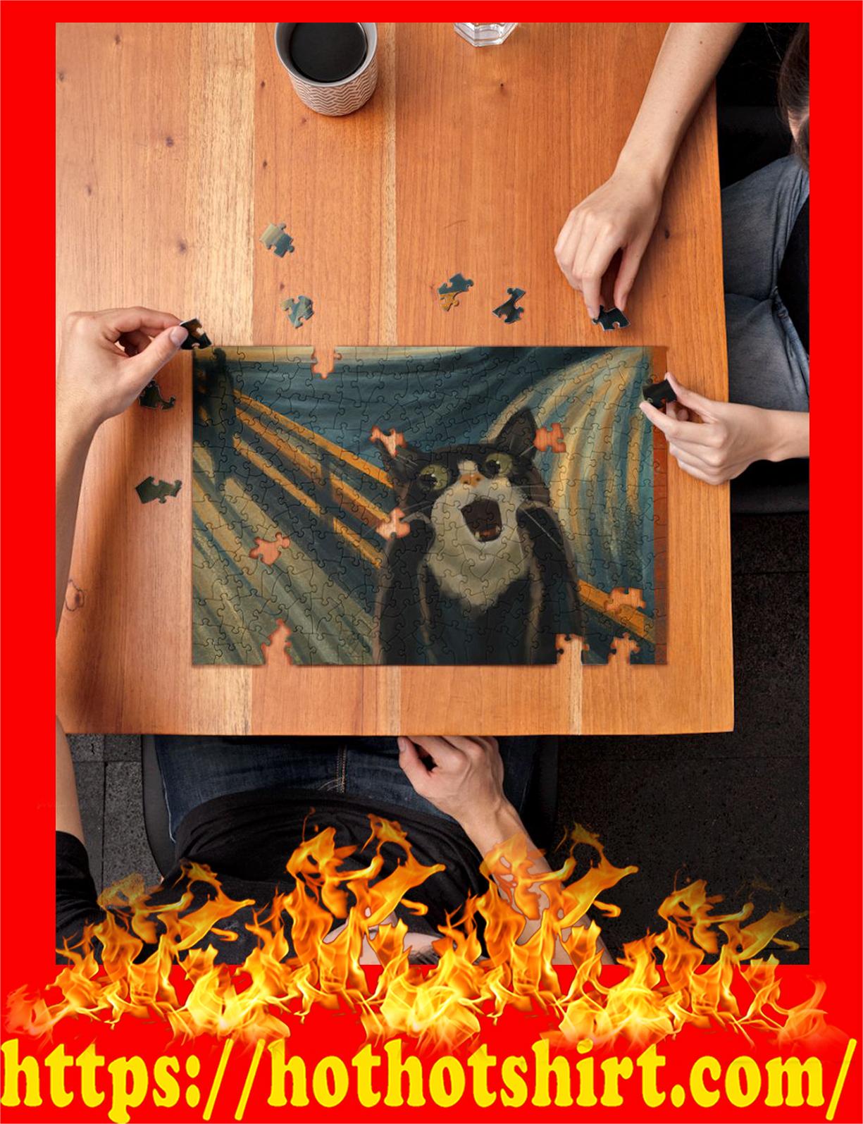 Screaming cat jigsaw puzzles pic 2