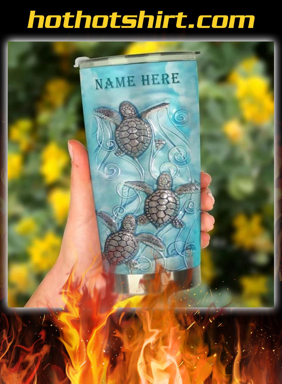 Sea turtle personalized custom name tumbler 2