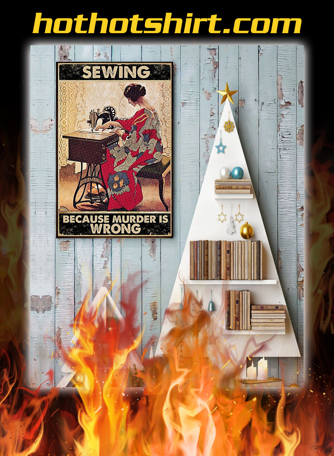 Sewing because murder is wrong poster 1