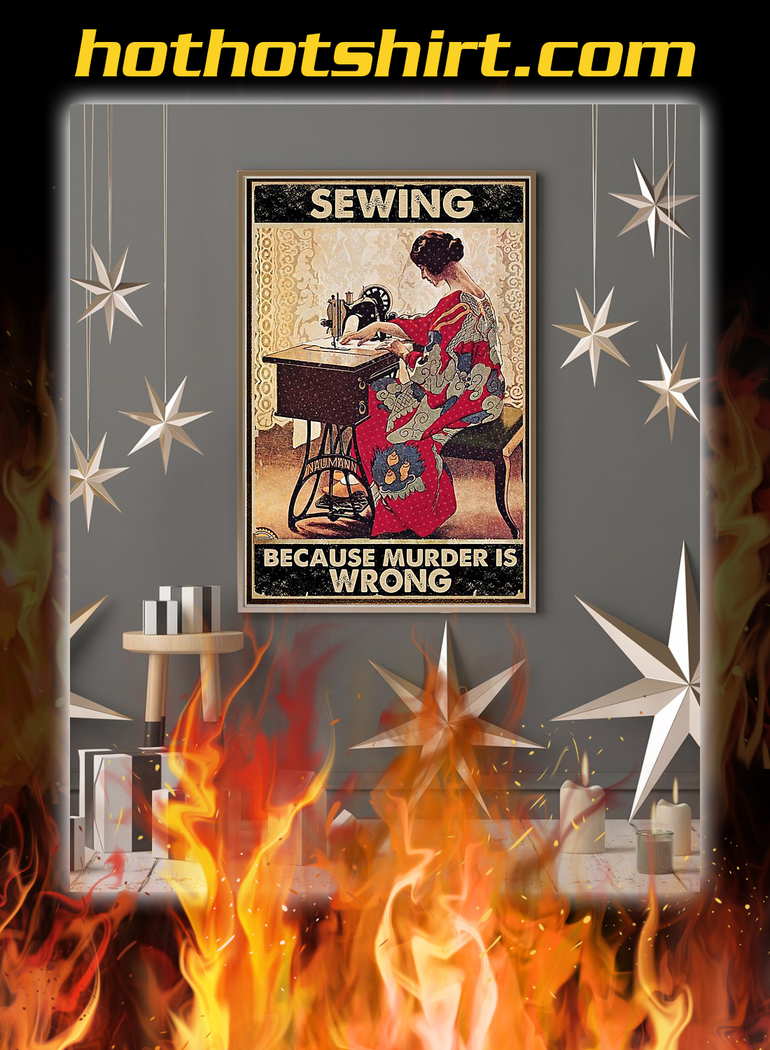 Sewing because murder is wrong poster 2
