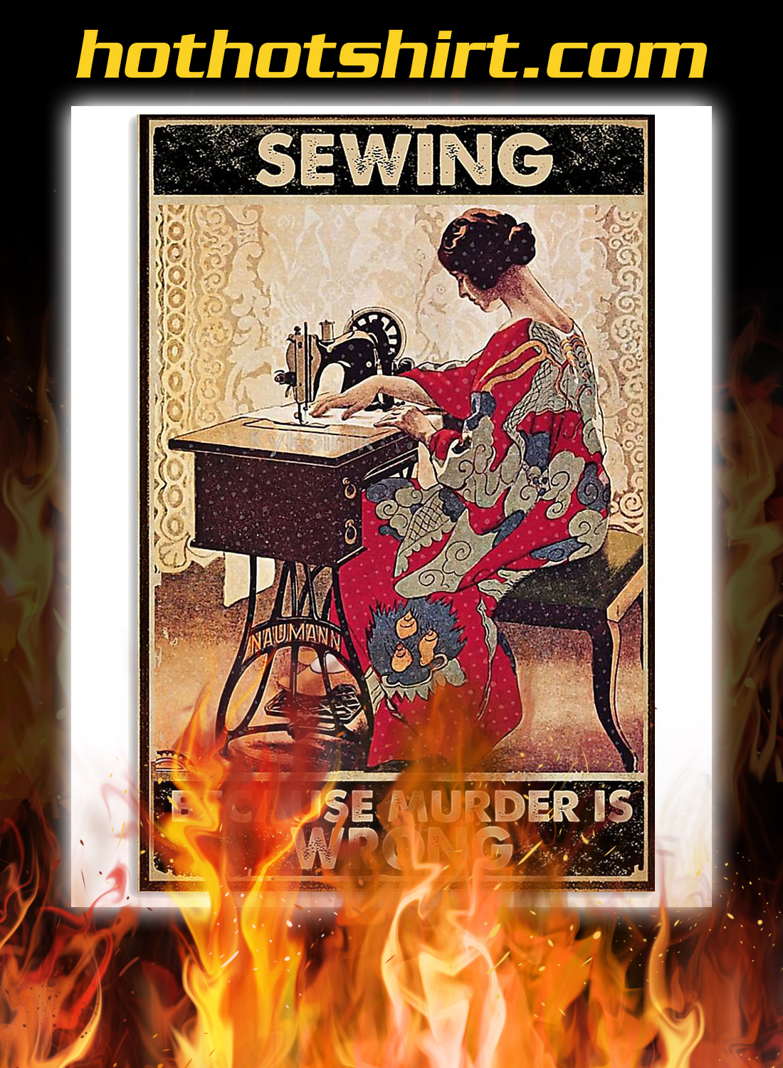 Sewing because murder is wrong poster 3