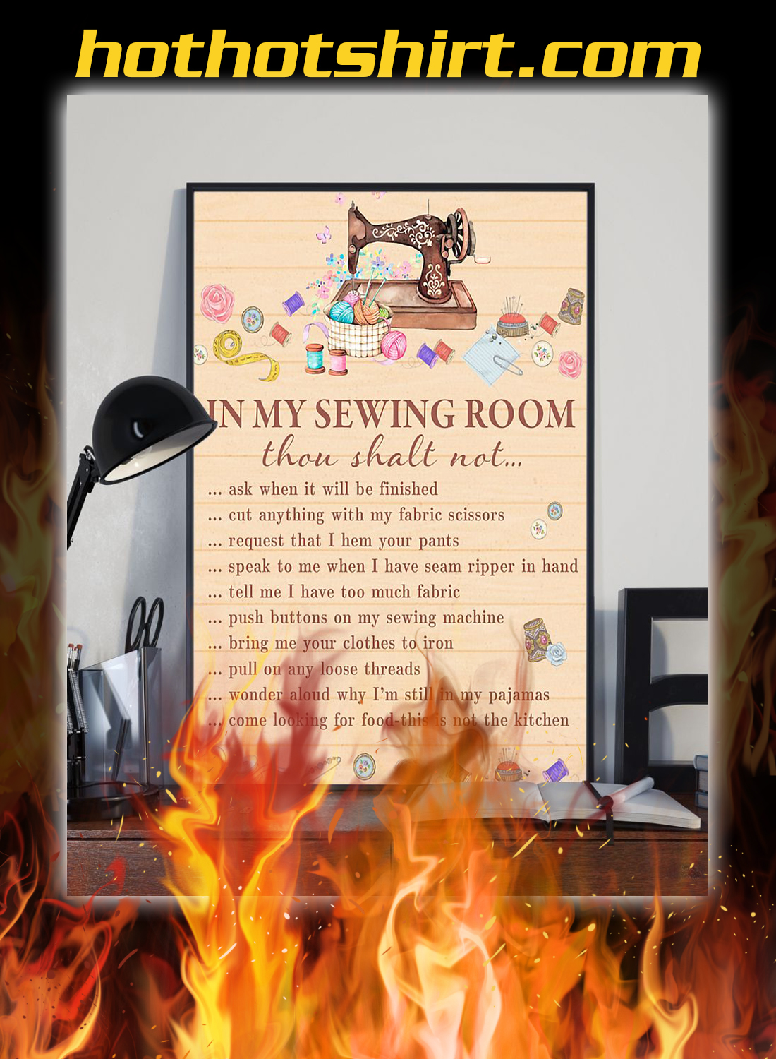 Sewing in the sewing room poster 2