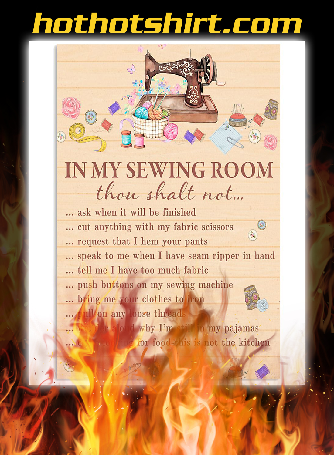 Sewing in the sewing room poster 3