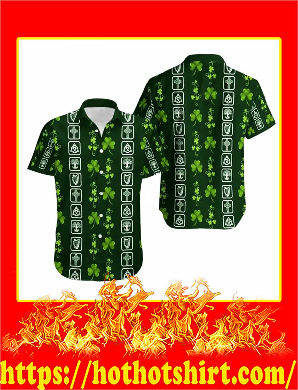 Shamrock irish symbols hawaiian shirt - M
