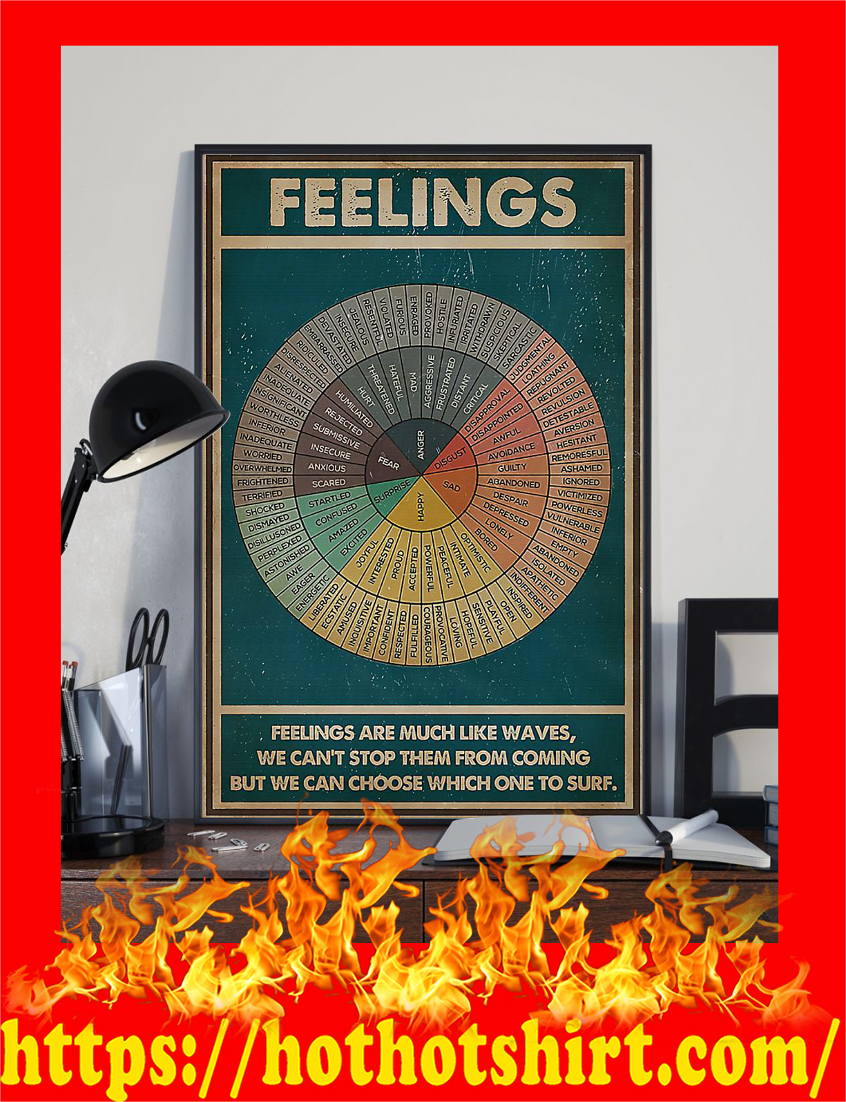 Social worker feelings feelings are much like waves poster - pic 2
