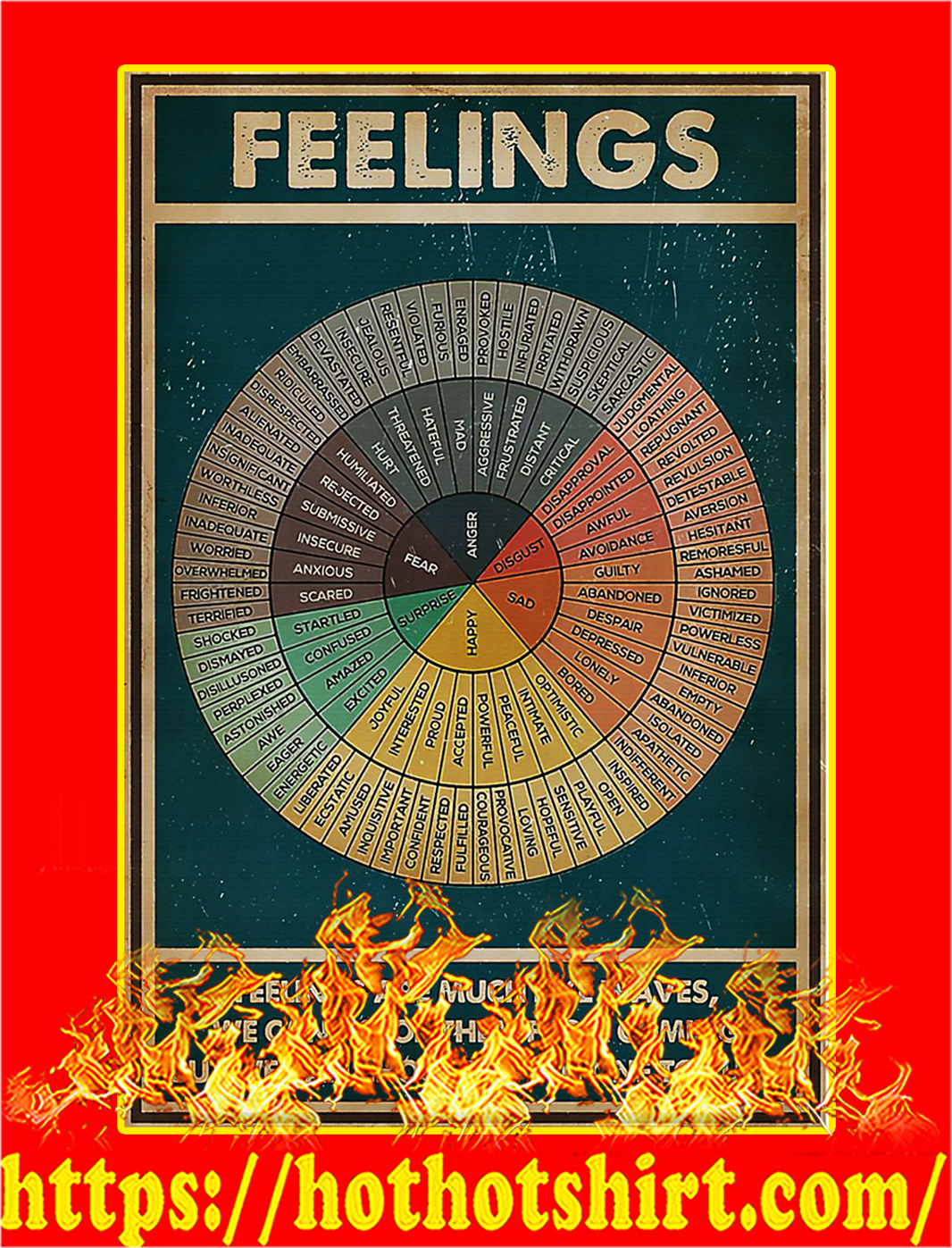 Social worker feelings poster - A1