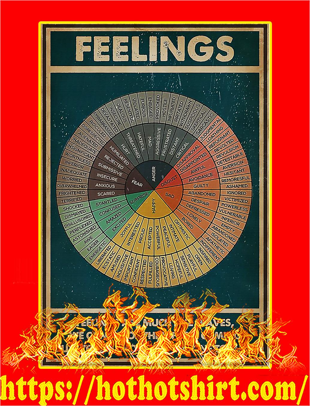 Social worker feelings poster