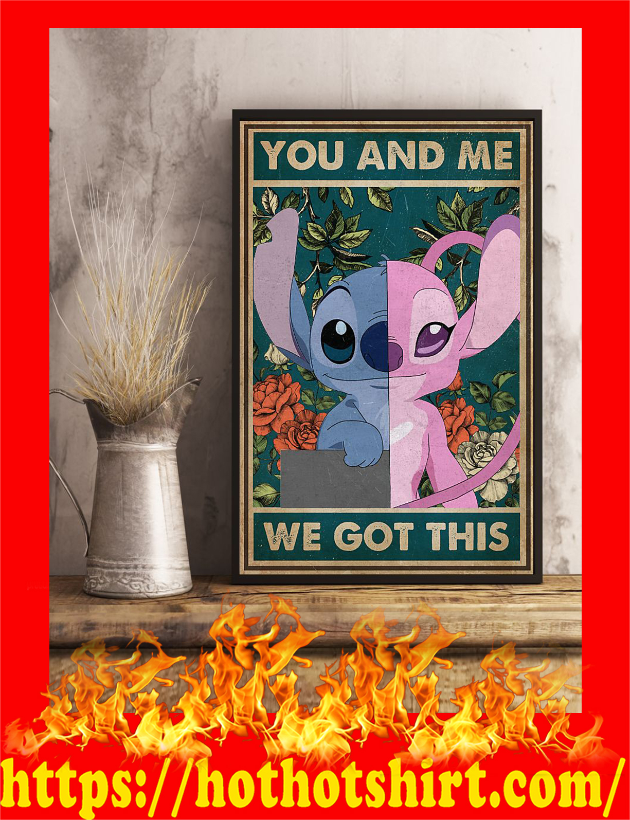 Stitch you and me we got this poster - Pic 1