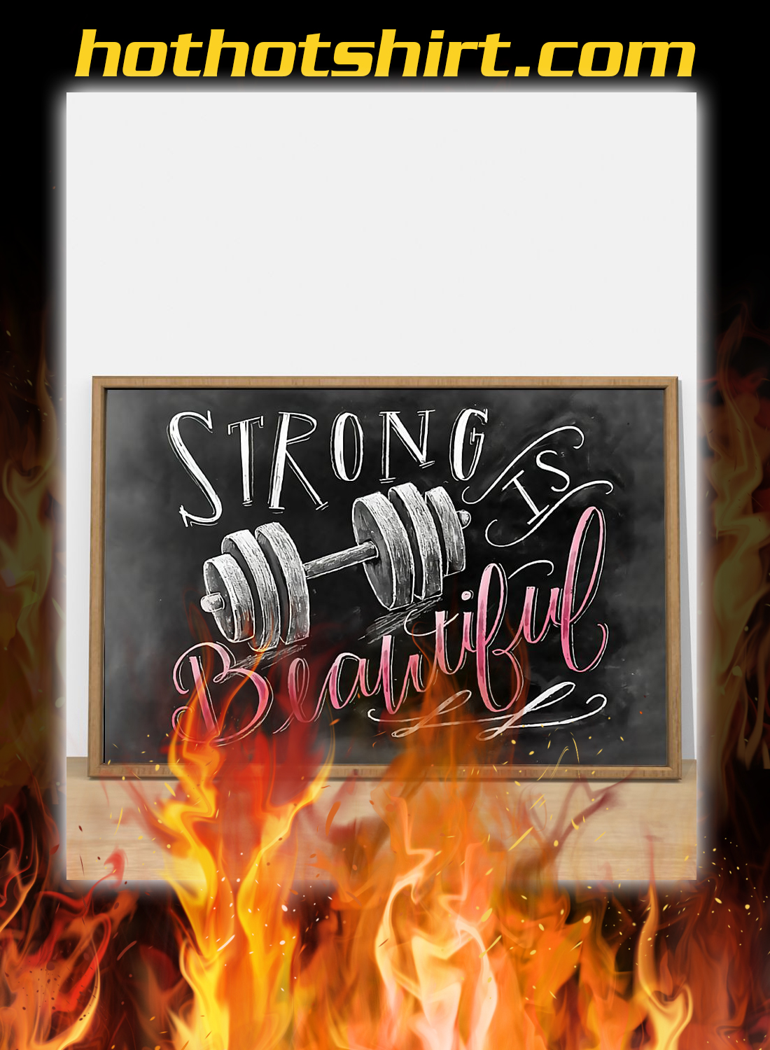 Strong is beautiful fitness poster 3