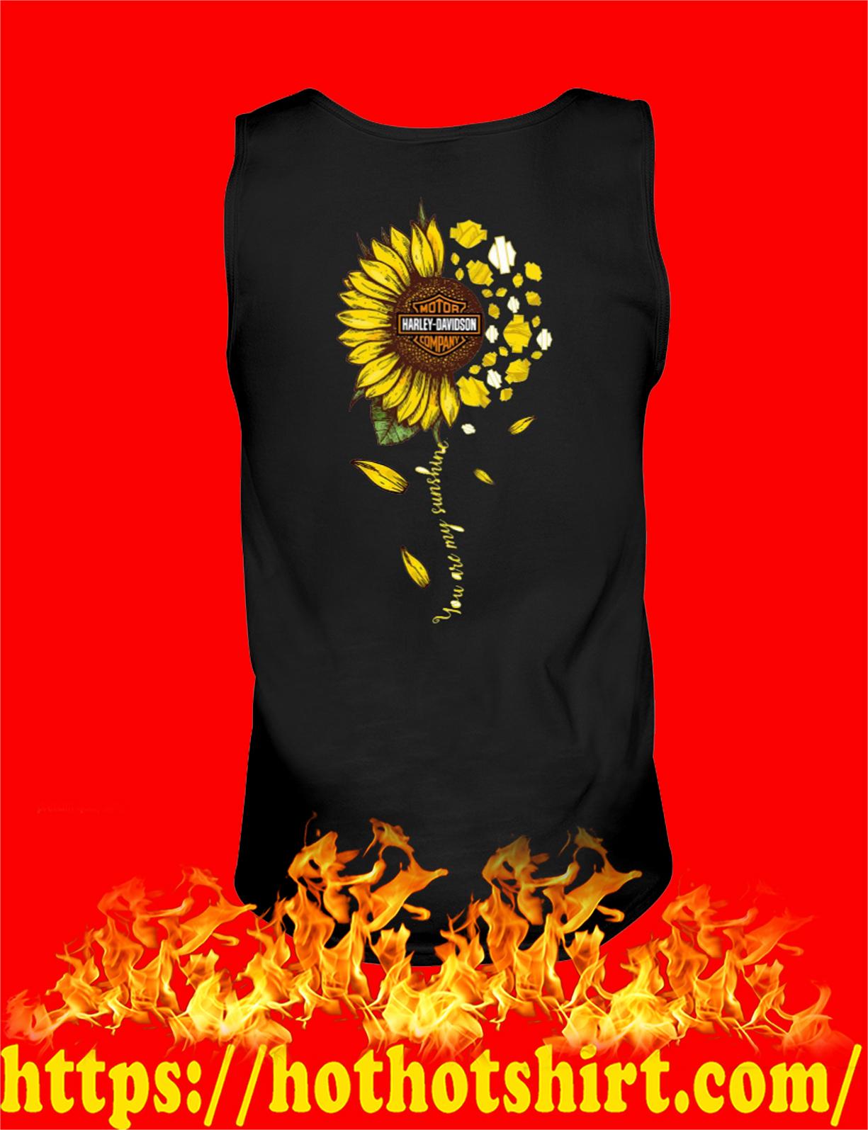 Sunflower harley davidson you are my sunshine tank top