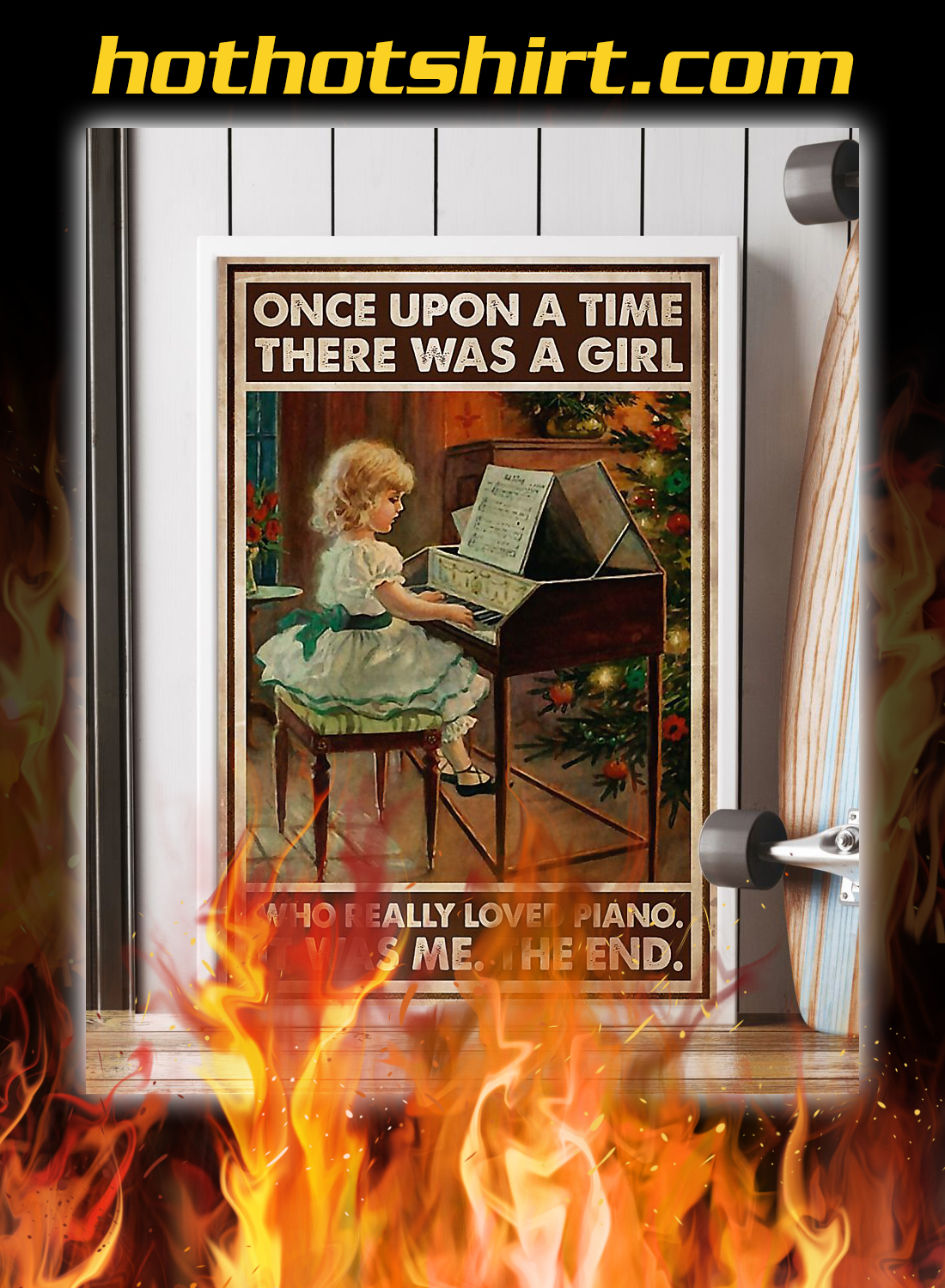 There was a girl who really loved piano poster 1