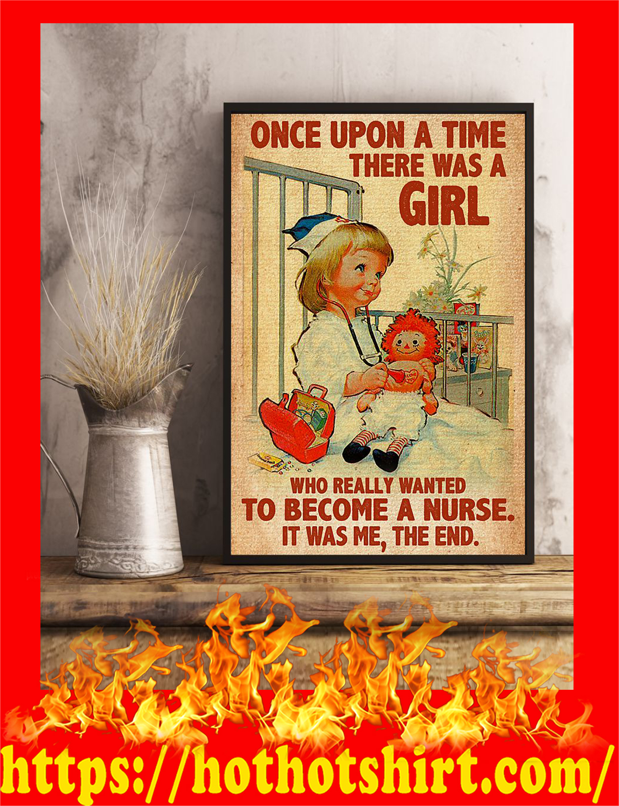 There was a girl who really wanted to become a nurse poster - pic 2