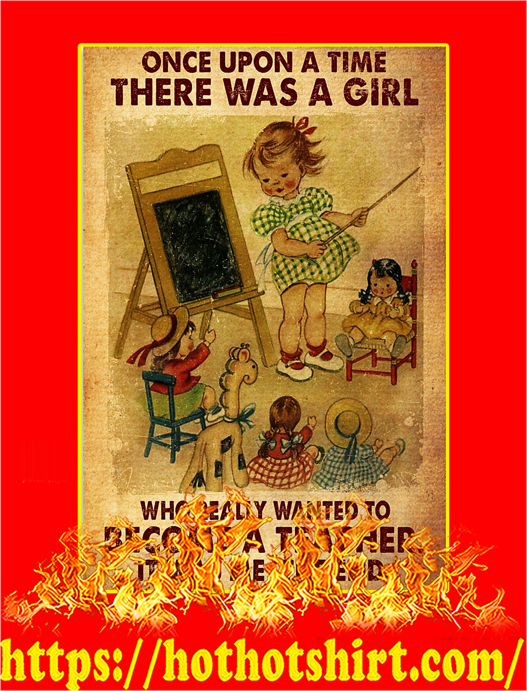 There was a girl who really wanted to teacher poster - A3