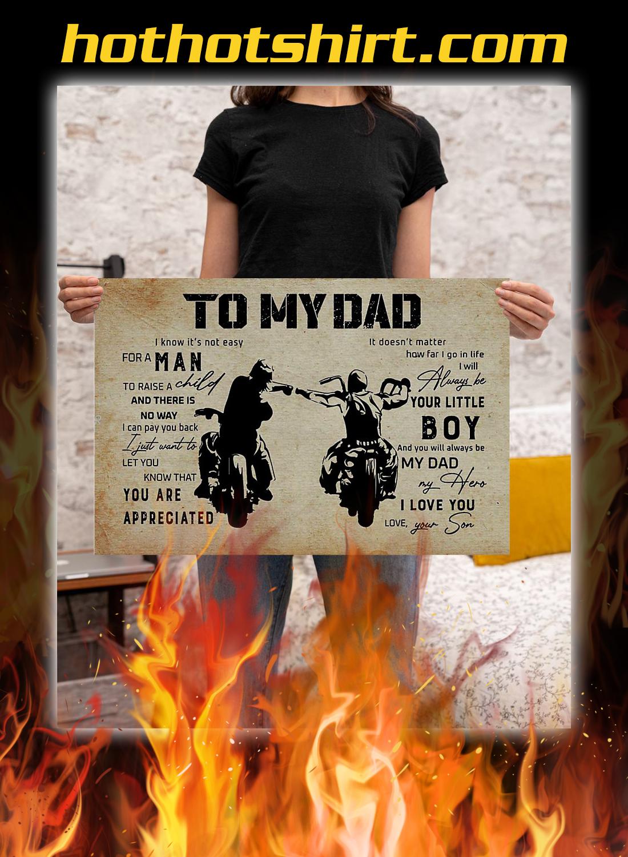 To my dad son biker poster 1