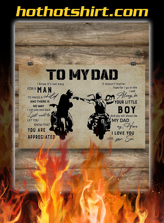 To my dad son biker poster 2