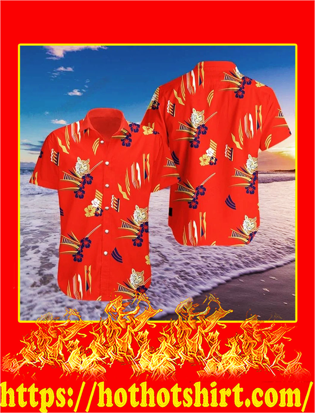Tony montana al pacino in scarface hawaiian shirt - L