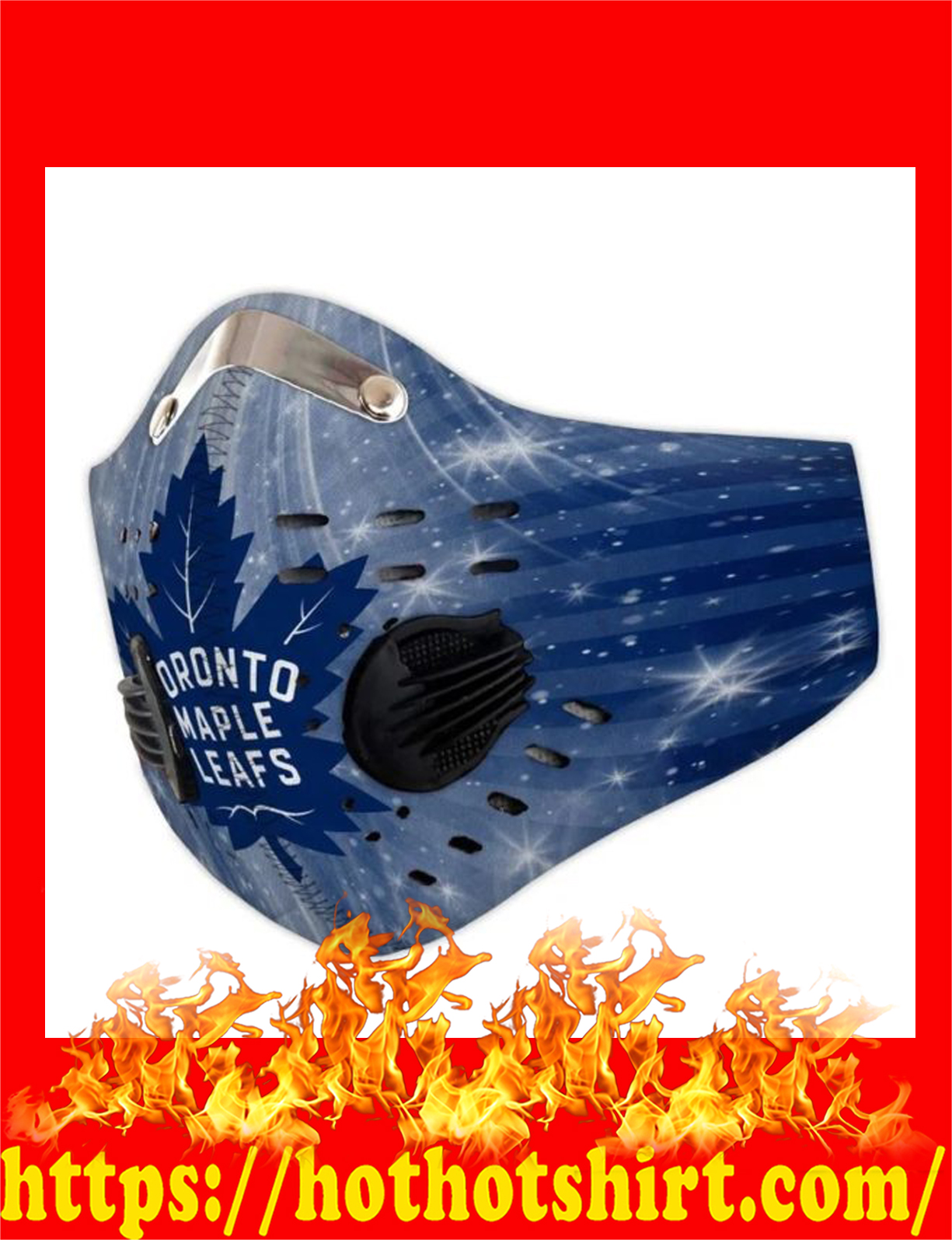Toronto maple leafs filter face mask - detail