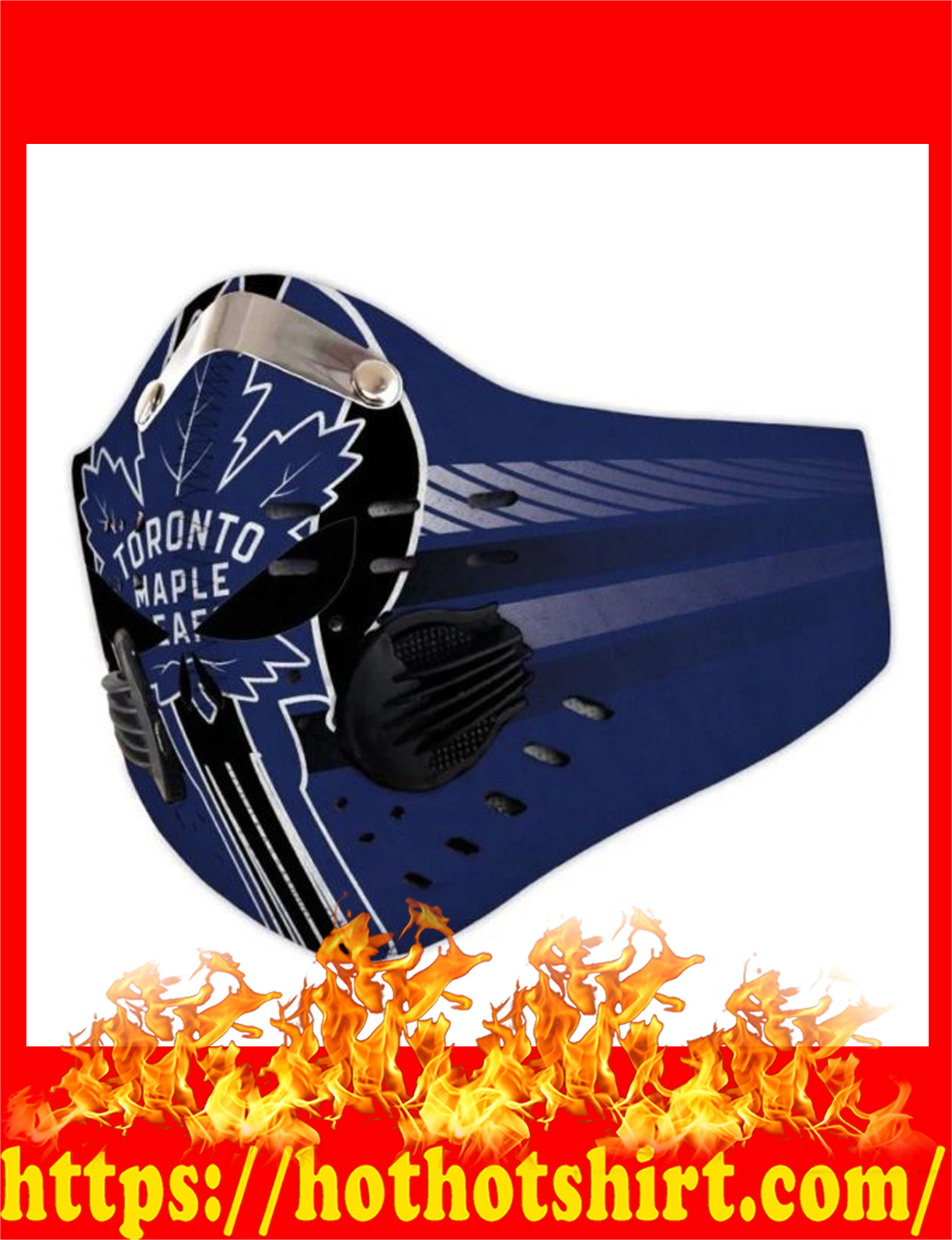 Toronto maple leafs punisher skull filter face mask - detail