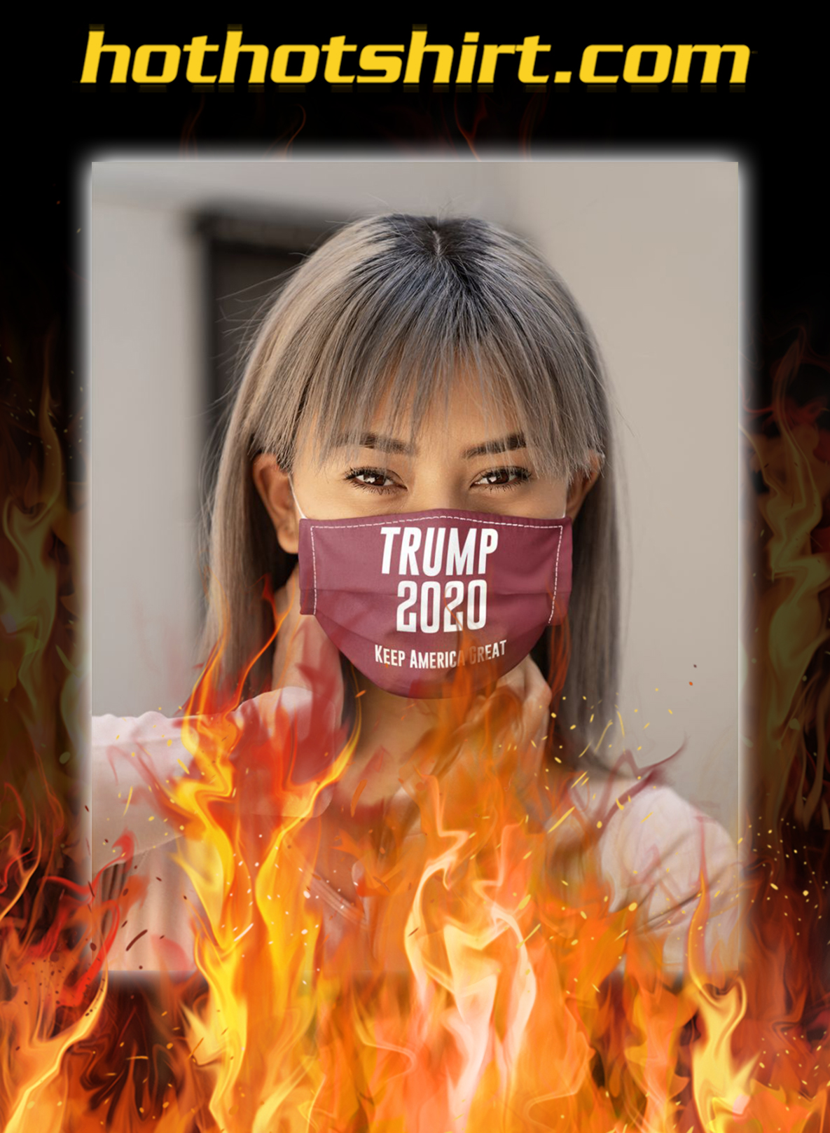 Trump 2020 keep america great face mask- pic 1
