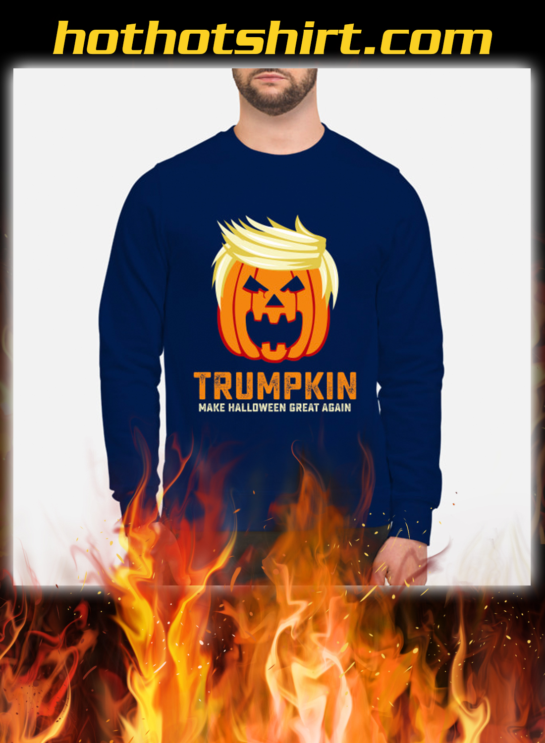 Trumpkin make halloween great again sweatshirt