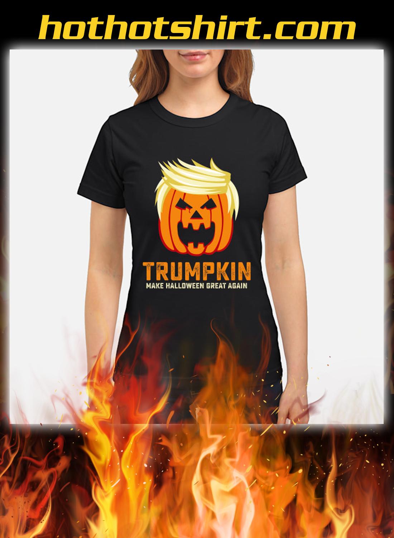 Trumpkin make halloween great again women shirt