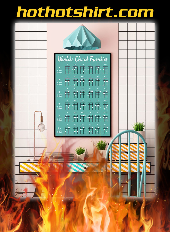 Ukulele chord families poster 2