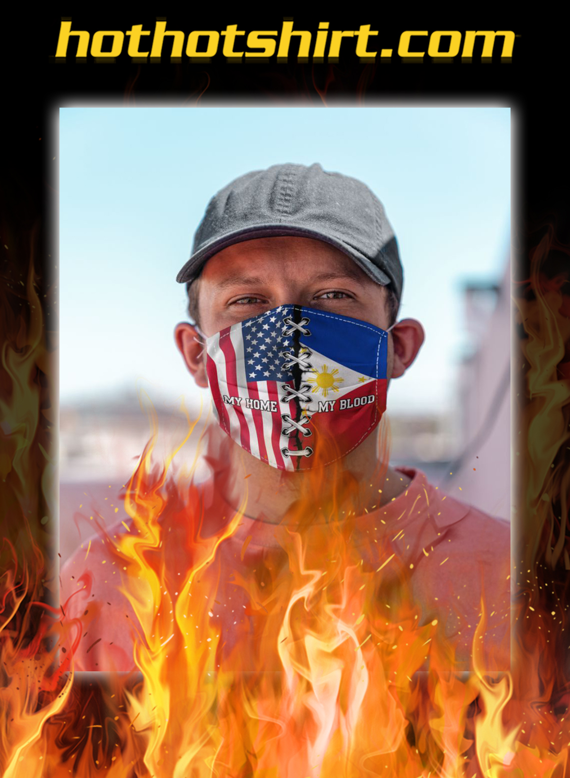 Usa My home philippines my blood face mask- pic 1