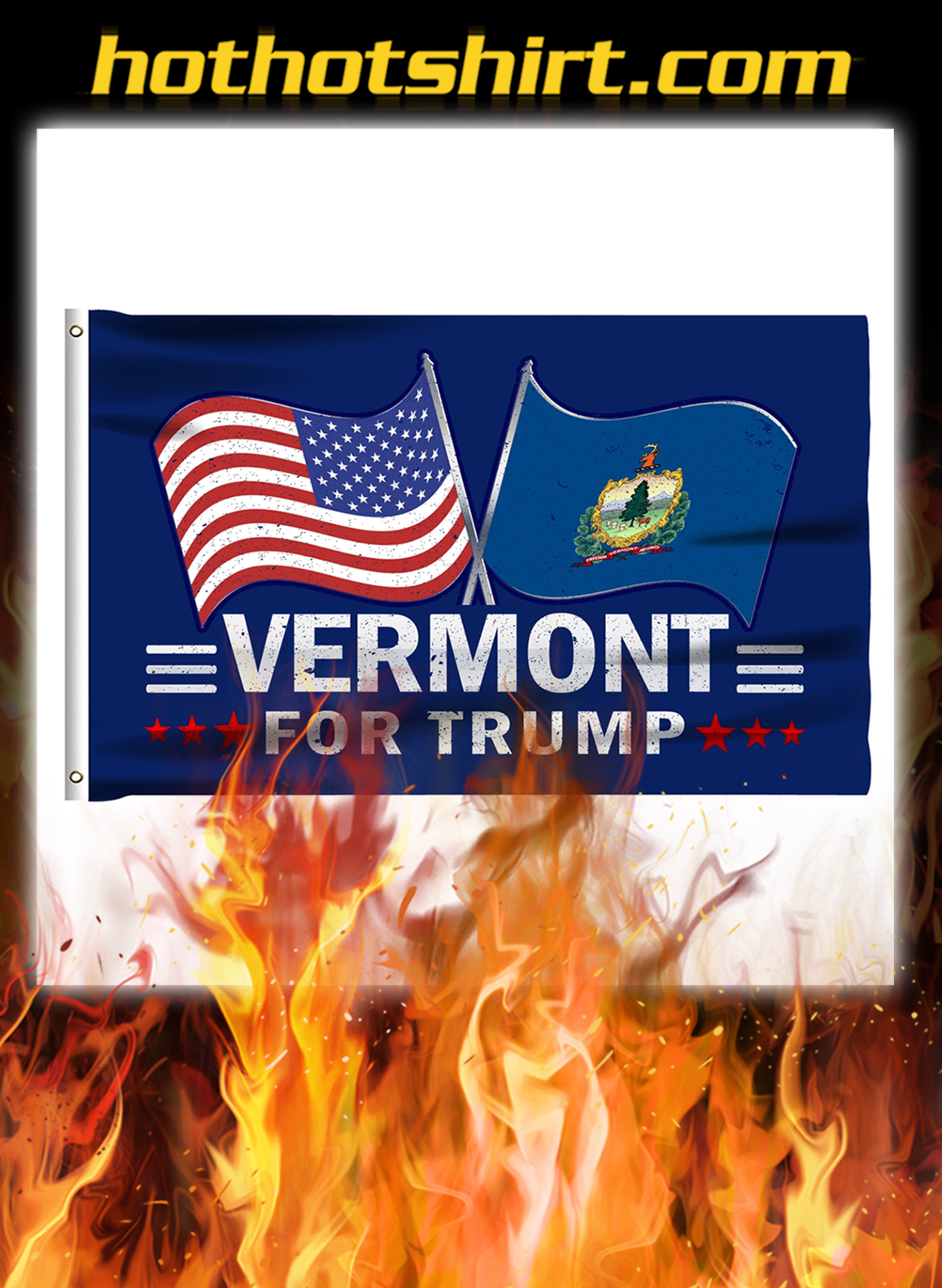 Vermont For Trump Flag- pic 1
