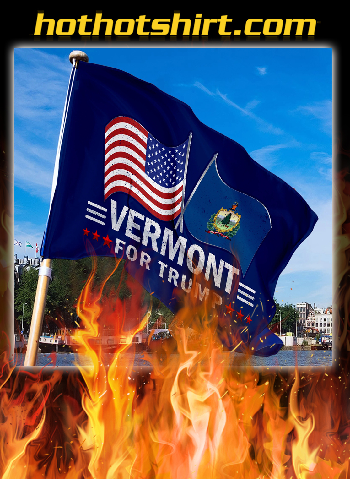 Vermont For Trump Flag- pic 3