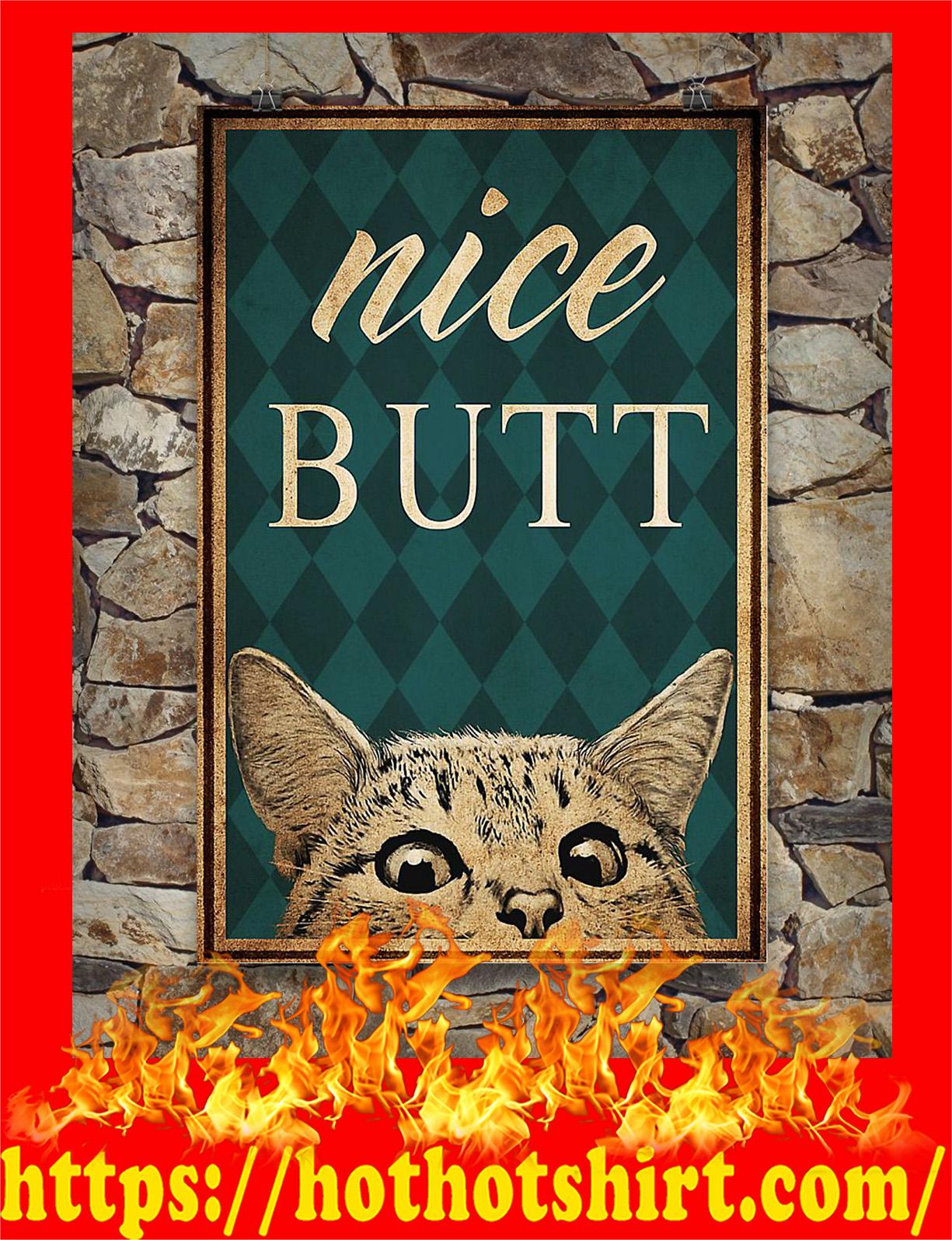 Vingage cat nice butt poster